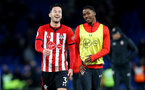 LONDON, ENGLAND - JANUARY 02: Maya Yoshida(L) and Kayne Ramsay of Southampton during the Premier League match between Chelsea FC and Southampton FC at Stamford Bridge on January 02, 2019 in London, United Kingdom. (Photo by Matt Watson/Southampton FC via Getty Images)