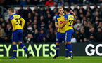 DERBY, ENGLAND - JANUARY 05: Nathan Redmond(R) of Southampton celebrates with James Ward-Prowse after opening the scoring during the FA Cup Third Round match between Derby County and Southampton FC at Pride Park on January 05, 2019 in Derby, United Kingdom. (Photo by Matt Watson/Southampton FC via Getty Images)