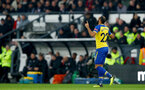 DERBY, ENGLAND - JANUARY 05: Nathan Redmond of Southampton celebrates after opening the scoring during the FA Cup Third Round match between Derby County and Southampton FC at Pride Park on January 05, 2019 in Derby, United Kingdom. (Photo by Matt Watson/Southampton FC via Getty Images)