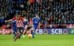 LEICESTER, ENGLAND - JANUARY 12: James Ward-Prowse of Southampton scores from the penalty spot to put his team 1-0 up during the Premier League match between Leicester City and Southampton FC at The King Power Stadium on January 12, 2019 in Leicester, United Kingdom. (Photo by Matt Watson/Southampton FC via Getty Images)