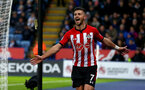 LEICESTER, ENGLAND - JANUARY 12: Shane Long of Southampton celebrates after scoring his teams second goal during the Premier League match between Leicester City and Southampton FC at The King Power Stadium on January 12, 2019 in Leicester, United Kingdom. (Photo by Matt Watson/Southampton FC via Getty Images)