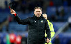 LEICESTER, ENGLAND - JANUARY 12: Southampton manager Ralph Hasenhuttl during the Premier League match between Leicester City and Southampton FC at The King Power Stadium on January 12, 2019 in Leicester, United Kingdom. (Photo by Matt Watson/Southampton FC via Getty Images)