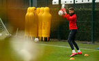 SOUTHAMPTON, ENGLAND - JANUARY 15: Angus Gunn makes a save during a Southampton FC  training session at Staplewood Complex on January 15, 2019 in Southampton, England. (Photo by James Bridle - Southampton FC/Southampton FC via Getty Images)
