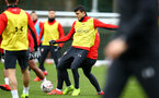 SOUTHAMPTON, ENGLAND - JANUARY 15: Stuart Armstrong (Middle) during a Southampton FC  training session at Staplewood Complex on January 15, 2019 in Southampton, England. (Photo by James Bridle - Southampton FC/Southampton FC via Getty Images)