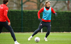 SOUTHAMPTON, ENGLAND - JANUARY 15: Jannik Vestergaard (right) during a Southampton FC  training session at Staplewood Complex on January 15, 2019 in Southampton, England. (Photo by James Bridle - Southampton FC/Southampton FC via Getty Images)