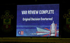 SOUTHAMPTON, ENGLAND - JANUARY 16: VAR review system during the FA Cup Third Round Replay match between Southampton FC and Derby County at St Mary's Stadium on January 16, 2019 in Southampton, United Kingdom. (Photo by Matt Watson/Southampton FC via Getty Images)