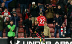 SOUTHAMPTON, ENGLAND - JANUARY 16: Nathan Redmond's goal celebration during the FA Cup Third Round Replay match between Southampton FC and Derby County at St Mary's Stadium on January 16, 2019 in Southampton, United Kingdom. (Photo by Chris Moorhouse Southampton FC/Southampton FC via Getty Images)