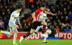 SOUTHAMPTON, ENGLAND - JANUARY 16: Sam Gallagher during the FA Cup Third Round Replay match between Southampton FC and Derby County at St Mary's Stadium on January 16, 2019 in Southampton, United Kingdom. (Photo by Chris Moorhouse Southampton FC/Southampton FC via Getty Images)