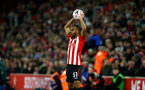 SOUTHAMPTON, ENGLAND - JANUARY 16: Tyreke Johnson of Southampton FC makes a throw in during the FA Cup Third Round Replay match between Southampton FC and Derby County at St Mary's Stadium on January 16, 2019 in Southampton, United Kingdom. (Photo by James Bridle - Southampton FC/Southampton FC via Getty Images)