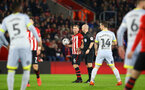 SOUTHAMPTON, ENGLAND - JANUARY 16: James Ward-Prowse takes a free kick during the FA Cup Third Round Replay match between Southampton FC and Derby County at St Mary's Stadium on January 16, 2019 in Southampton, United Kingdom. (Photo by James Bridle - Southampton FC/Southampton FC via Getty Images)