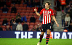 SOUTHAMPTON, ENGLAND - JANUARY 16: Jannik Vestergaard scores his penalty and celebrates during the FA Cup Third Round Replay match between Southampton FC and Derby County at St Mary's Stadium on January 16, 2019 in Southampton, United Kingdom. (Photo by James Bridle - Southampton FC/Southampton FC via Getty Images)