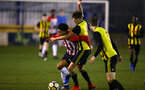 LONDON, ENGLAND - JANUARY 17:  Christian Norton (left) during a  FA Youth Cup match between Watford FC and Southampton FC on January 17, 2019 in Watford, United Kingdom. (Photo by James Bridle - Southampton FC/Southampton FC via Getty Images)