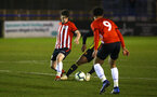 LONDON, ENGLAND - JANUARY 17: Will Ferry (left) during a  FA Youth Cup match between Watford FC and Southampton FC on January 17, 2019 in Watford, United Kingdom. (Photo by James Bridle - Southampton FC/Southampton FC via Getty Images)