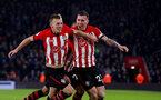 SOUTHAMPTON, ENGLAND - JANUARY 19: James Ward-Prowse(L) celebrates with Pierre-Emile Hojbjerg of Southampton during the Premier League match between Southampton FC and Everton FC at St Mary's Stadium on January 19, 2019 in Southampton, United Kingdom. (Photo by Matt Watson/Southampton FC via Getty Images)