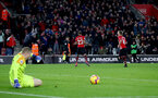 SOUTHAMPTON, ENGLAND - JANUARY 19: Nathan Redmond of Southampton celebrates after ball finds its way into the net for a second time during the Premier League match between Southampton FC and Everton FC at St Mary's Stadium on January 19, 2019 in Southampton, United Kingdom. (Photo by Matt Watson/Southampton FC via Getty Images)