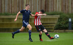 SOUTHAMPTON, ENGLAND - JANUARY 26: Will Ferry (right) during the Under 18s match between Southampton FC and Fulham FC pictured at Staplewood Complex on January 26, 2019 in Southampton, England. (Photo by James Bridle - Southampton FC/Southampton FC via Getty Images)