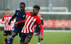 SOUTHAMPTON, ENGLAND - JANUARY 26: Alexandre Jankewitz (right) during the Under 18s match between Southampton FC and Fulham FC pictured at Staplewood Complex on January 26, 2019 in Southampton, England. (Photo by James Bridle - Southampton FC/Southampton FC via Getty Images)