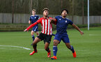 SOUTHAMPTON, ENGLAND - JANUARY 26: Enzo Robise (left) during the Under 18s match between Southampton FC and Fulham FC pictured at Staplewood Complex on January 26, 2019 in Southampton, England. (Photo by James Bridle - Southampton FC/Southampton FC via Getty Images)