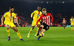 SOUTHAMPTON, ENGLAND - JANUARY 30: Stuart Armstrong of Southampton on the ball during the Premier League match between Southampton FC and Crystal Palace at St Mary's Stadium on January 30, 2019 in Southampton, United Kingdom. (Photo by Matt Watson/Southampton FC via Getty Images)