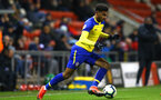 LEIGH, GREATER MANCHESTER - FEBRUARY 01:  Marcus Barnes  during the PL2 match between Manchester United and Southampton FC pictured at Leigh Sports Village on February 01, 2019 in Leigh, Greater Manchester. (Photo by James Bridle - Southampton FC/Southampton FC via Getty Images)