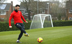 SOUTHAMPTON, ENGLAND - FEBRUARY 05: Charlie Austin during a Southampton FC  training session at Staplewood Complex on February 05, 2019 in Southampton, England. (Photo by James Bridle - Southampton FC/Southampton FC via Getty Images)