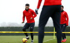 SOUTHAMPTON, ENGLAND - FEBRUARY 05: Charlie Austin (left) during a Southampton FC  training session at Staplewood Complex on February 05, 2019 in Southampton, England. (Photo by James Bridle - Southampton FC/Southampton FC via Getty Images)