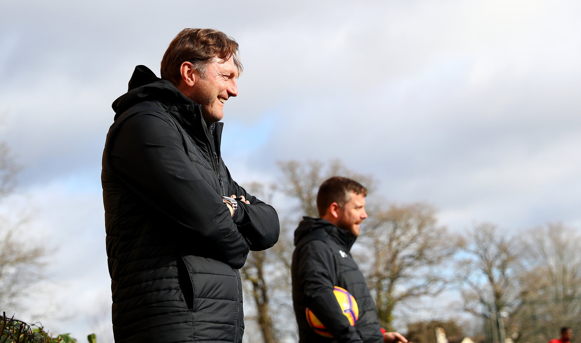 SOUTHAMPTON, ENGLAND - FEBRUARY 07: Ralph Hasenhuttl during a Southampton FC training session at the Staplewood Campus on February 07, 2019 in Southampton, England. (Photo by Matt Watson/Southampton FC via Getty Images)