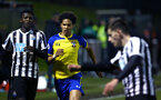 NEWCASTLE, ENGLAND - FEBRUARY 08: Oludare Olufunwa (middle) during a PLCUP match between Southampton FC and Newcastle United pictured at Northumberland County FA on February 08, 2019 in Newcastle, England. (Photo by James Bridle - Southampton FC/Southampton FC via Getty Images)