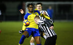 NEWCASTLE, ENGLAND - FEBRUARY 08: Dan Nlundulu  (Middle) during a PLCUP match between Southampton FC and Newcastle United pictured at Northumberland County FA on February 08, 2019 in Newcastle, England. (Photo by James Bridle - Southampton FC/Southampton FC via Getty Images)