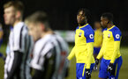 NEWCASTLE, ENGLAND - FEBRUARY 08: Dan Nlundulu  during a PLCUP match between Southampton FC and Newcastle United pictured at Northumberland County FA on February 08, 2019 in Newcastle, England. (Photo by James Bridle - Southampton FC/Southampton FC via Getty Images)