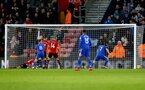 SOUTHAMPTON, ENGLAND - FEBRUARY 09: Cardiff score their second goal during the Premier League match between Southampton FC and Cardiff City at St Mary's Stadium on February 09, 2019 in Southampton, United Kingdom. (Photo by Matt Watson/Southampton FC via Getty Images)