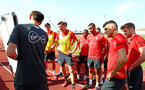 TENERIFE, SPAIN - FEBRUARY 12: Players take instruction on day 2 of Southampton FC's winter training Camp, on February 12, 2019 in Tenerife, Spain. (Photo by Matt Watson/Southampton FC via Getty Images)