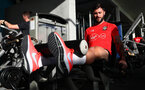 TENERIFE, SPAIN - FEBRUARY 12: Charlie Austin on day 2 of Southampton FC's winter training Camp, on February 12, 2019 in Tenerife, Spain. (Photo by Matt Watson/Southampton FC via Getty Images)