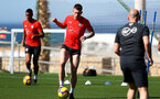 TENERIFE, SPAIN - FEBRUARY 13: Pierre-Emile Hojbjerg on day 3 of Southampton FC's winter training camp on February 13, 2019 in Tenerife, Spain. (Photo by Matt Watson/Southampton FC via Getty Images)
