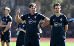 TENERIFE, SPAIN - FEBRUARY 14: Ralph Hasenhuttl(L) on day 4 of Southampton FC's winter training camp on February 14, 2019 in Tenerife, Spain. (Photo by Matt Watson/Southampton FC via Getty Images)
