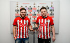 SOUTHAMPTON, ENGLAND - FEBRUARY 14: PS4 Finalists, Winner Venn (Right) during the ePremier League tournament held at St Mary's Stadium on February 14, 2019 in Southampton, England. (Photo by James Bridle - Southampton FC/Southampton FC via Getty Images)