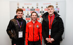 SOUTHAMPTON, ENGLAND - FEBRUARY 14: LtoR James Morris, Harriet Eastham, Jack Bycroft during the ePremier League tournament held at St Mary's Stadium on February 14, 2019 in Southampton, England. (Photo by James Bridle - Southampton FC/Southampton FC via Getty Images)