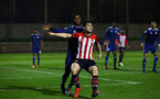 SOUTHAMPTON, ENGLAND - FEBRUARY 15: Will Ferry  (middle) during the U23s PL2 match between Southampton FC and Fulham FC pictured at Staplewood Complex on February 15, 2019 in Southampton, England. (Photo by James Bridle - Southampton FC/Southampton FC via Getty Images)