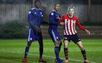 SOUTHAMPTON, ENGLAND - FEBRUARY 15: Christoph Klarer (right) during the U23s PL2 match between Southampton FC and Fulham FC pictured at Staplewood Complex on February 15, 2019 in Southampton, England. (Photo by James Bridle - Southampton FC/Southampton FC via Getty Images)