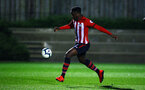 SOUTHAMPTON, ENGLAND - FEBRUARY 15: Jonathan Afolabi   during the U23s PL2 match between Southampton FC and Fulham FC pictured at Staplewood Complex on February 15, 2019 in Southampton, England. (Photo by James Bridle - Southampton FC/Southampton FC via Getty Images)