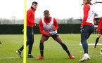 SOUTHAMPTON, ENGLAND - FEBRUARY 20: Kayne Ramsay (middle) during a Southampton FC training session pictured at Staplewood Complex on February 20, 2019 in Southampton, England. (Photo by James Bridle - Southampton FC/Southampton FC via Getty Images)