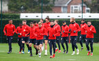 SOUTHAMPTON, ENGLAND - FEBRUARY 22: Shane Long leads his team mates as they run during a Southampton FC training session at the Staplewood Campus on February 22, 2019 in Southampton, England. (Photo by Matt Watson/Southampton FC via Getty Images)
