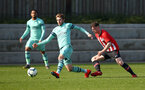 SOUTHAMPTON, ENGLAND - FEBRUARY 23:  Will Ferry (right) during the U18's premier league match between Southampton FC and Arsenal FC pictured in Southampton, England. (Photo by James Bridle - Southampton FC/Southampton FC via Getty Images)
