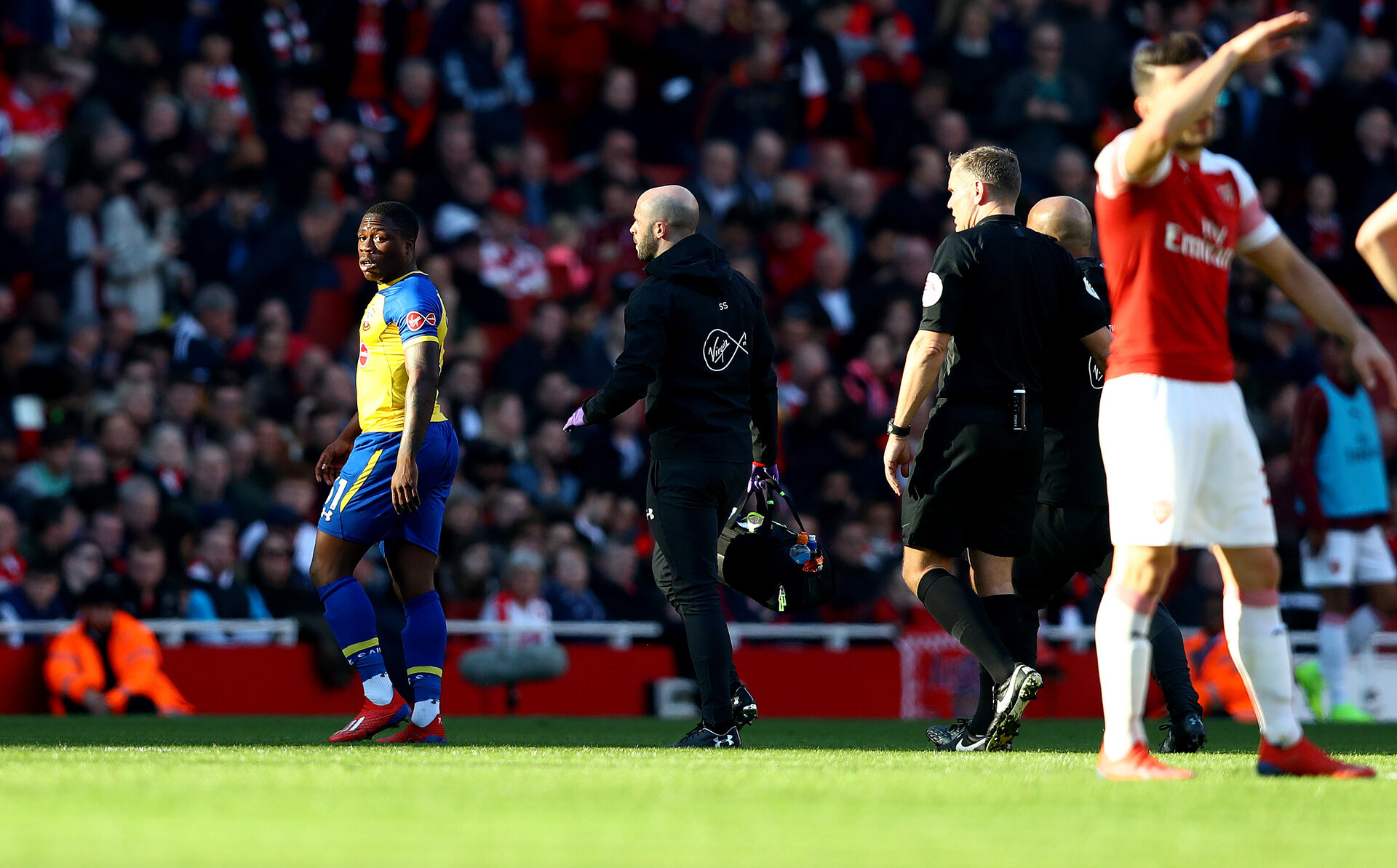 LONDON, ENGLAND - FEBRUARY 24: during the Premier League match between Arsenal FC and Southampton FC at Emirates Stadium on February 24, 2019 in London, United Kingdom. (Photo by Matt Watson/Southampton FC via Getty Images)