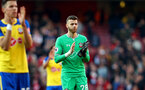 LONDON, ENGLAND - FEBRUARY 24: Angus Gunn of Southampton during the Premier League match between Arsenal FC and Southampton FC at Emirates Stadium on February 24, 2019 in London, United Kingdom. (Photo by Matt Watson/Southampton FC via Getty Images)
