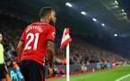 SOUTHAMPTON, ENGLAND - FEBRUARY 27:  Ryan Bertrand takes a corner for Southampton FC during the Premier League match between Southampton FC and Fulham FC at St Mary's Stadium on February 27, 2019 in Southampton, United Kingdom. (Photo by James Bridle - Southampton FC/Southampton FC via Getty Images)