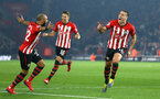 SOUTHAMPTON, ENGLAND - FEBRUARY 27:  Oriol Romeu of Southampton FC scores and celebrates with Nathan Redmond (left) during the Premier League match between Southampton FC and Fulham FC at St Mary's Stadium on February 27, 2019 in Southampton, United Kingdom. (Photo by James Bridle - Southampton FC/Southampton FC via Getty Images)