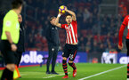 SOUTHAMPTON, ENGLAND - FEBRUARY 27:  Jan Bednarek makes a throw in (middle) during the Premier League match between Southampton FC and Fulham FC at St Mary's Stadium on February 27, 2019 in Southampton, United Kingdom. (Photo by James Bridle - Southampton FC/Southampton FC via Getty Images)
