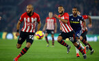 SOUTHAMPTON, ENGLAND - FEBRUARY 27: Ryan Bertrand (Middle) during the Premier League match between Southampton FC and Fulham FC at St Mary's Stadium on February 27, 2019 in Southampton, United Kingdom. (Photo by James Bridle - Southampton FC/Southampton FC via Getty Images)
