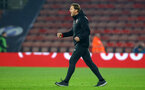 SOUTHAMPTON, ENGLAND - FEBRUARY 27:  Ralph Hasenhuttl celebrates at the final whistle during the Premier League match between Southampton FC and Fulham FC at St Mary's Stadium on February 27, 2019 in Southampton, United Kingdom. (Photo by James Bridle - Southampton FC/Southampton FC via Getty Images)